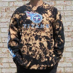 Tennessee Titans NFL Custom Bleach Tee sz XXL